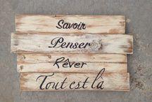 citations sur bois
