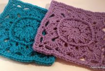 Crochet Granny Square and Motif Square /  Granny and motif Square free patterns and inspirations