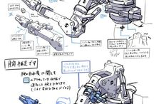 Robots, Mechanical, Sci-Fi REFERENCES / robots, mechanical, warships, space, sci-fi: references