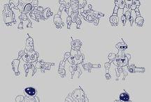 characters design / personajes para documentación