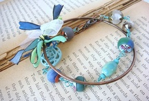 My Style / http://www.etsy.com/listing/89609680/bracelet-set-blue-aqua-teal-polymer-clay / by Tami Boskovich Lopez