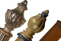 Finial Glamour / J.L. Anthony showcases some stunning finial/pole/finish combinations in these images created for our 2016 Look+Book