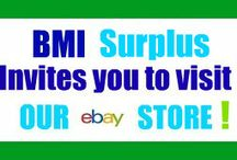 BMI Surplus Links / BMI Surplus is on Linked-In, Google Circles, Facebook, Ebay, Twitter and YouTube.  After you leave Pinterest visit us on the web at bmisurplus.com.
