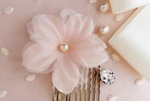 Wedding silk flower hair combs