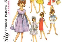 Vintage Doll Sewing Reproduced Patterns / These are all Rescanned and reproduced so all pieces are clean and clear. Comes in own envelope, with color front and back cover. Will last many years.  These are finally available in PDF form, if you still prefer in printed form just let me know =)