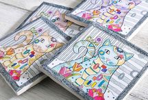 Coloring Pages DIY / What do you do with your colored pages. Hmmm...let me show you.