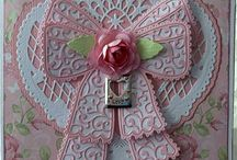 'Tattered Lace' die cut cards