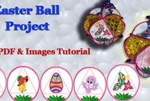 Embroidered Easter Ball Project