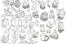 Crystals drawing