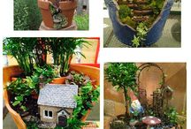 making broken pot fairy house