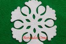 moldes de fieltro navideño
