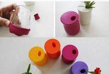 ballon+pot à yaourt=pot de fleur