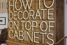 Decorating Above Cabinets / by Kitchen Resource Direct
