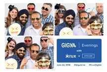 Gigya + Krux Photo Booth #GigyaLive #KruxDigital / Tech Company Photo Booth, Networking, White on White, social media photo booth
