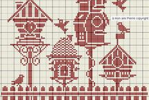 Cross stitch - Little houses