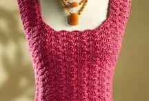 Schema maglia rosa senza maniche