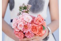 Wedding flowers for aqua and coral theme / by Michelle Regan