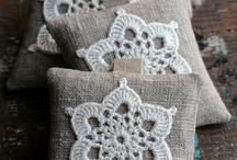 Crochet sobres de lavanda