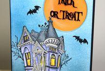 Halloween  cards  &decor