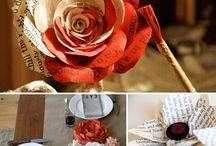 Бумажных цветов свадьба