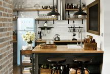 INDUSTRIAL STYLE DECOR.& MAYBE A LITTLE FARMHOUSE & SHABBY CHIC THROWN IN ON THE SIDE
