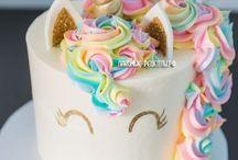 Торт и украшение к день рождению