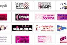 Cheer Leading | Banners.com / Custom Cheer Banner Templates and other Cheer Leading items