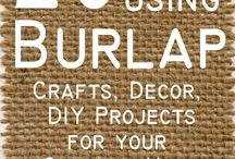 Burlap Crafts idea