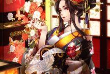 Girls in Kimono | Anime Art