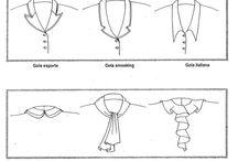 Golas, mangas e decotes.