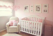 Nursery pink and gray
