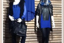 Black and Clematis Blue / Dames mode