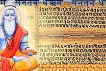 """Махабхарата / Махабхарата — """"Великое сказание о потомках Бхараты"""" или """"Сказание о великой битве Бхаратов"""". Исследователи считают, что в основу эпоса легли предания о реальных событиях, происходивших в Северной Индии в поздневедийский период: войне между союзами племен куру и панчалов, завершившейся победой панчалов."""