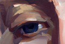 modern painting - eyes