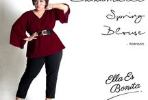 2015 - Emmanuelle Spring Blouse / Blouse which specially designed for sophisticated curvy women originally made by Indonesian Designer & Local Brand: Ella Es Bonita.