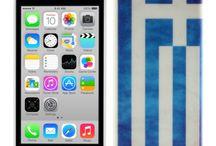 Θήκη iphone 5C Ελληνική σημαία  7,90€ / Θήκη Ελληνική σημαία για iphone 5C 7,90€