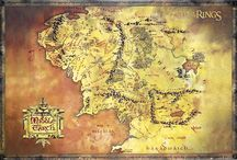 Fantasy Maps / Maps of famous places that only exist in books, movies, stories, and our imagination.   **Sorry, we do not sell these maps at our store (we just like them a lot!)**