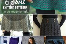 strikke skjørt/kjole