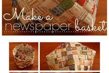 Fletting i stoff & papir