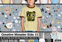 Kaos Anak Monster lucu 1 |  cute Monster T-shirt for  kid
