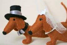 Dachshund wedding / Wedding items for dachshund lovers