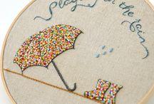 Французское вышивание узелками