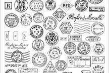 Artistamps / Artistamps, faux postage, postmarks, fake postage stamps, etc