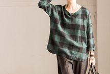 Spring Clothes / Linen cotton women clothes shirt bat sleeve top fashion blouse summer clothes