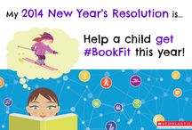 "Get #BookFit 2014 / Make your resolution for 2014 to help kids get ""#BookFit""! Visit our interactive calendar on Facebook to get free daily resources including free book recommendations and tips from experts at Scholastic.  / by Scholastic"