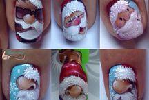 weihnachtliches Nageldesign