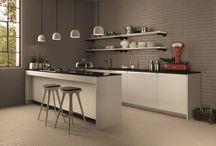 Kitchen Area / Pavimenti e rivestimenti in ceramica per la zona cucina. Ceramic Tile floors and wall surfaces for kitchen area