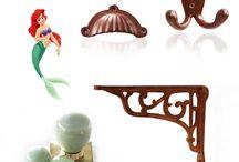 Disney Princess Home Decor for National Princess Week / Disney Princess inspired hardware sets.