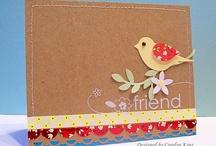 Handmade Cards- SU- Bird Punch