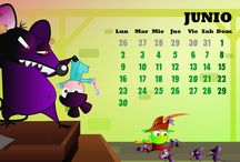June / Junio / Calendar / Calendario